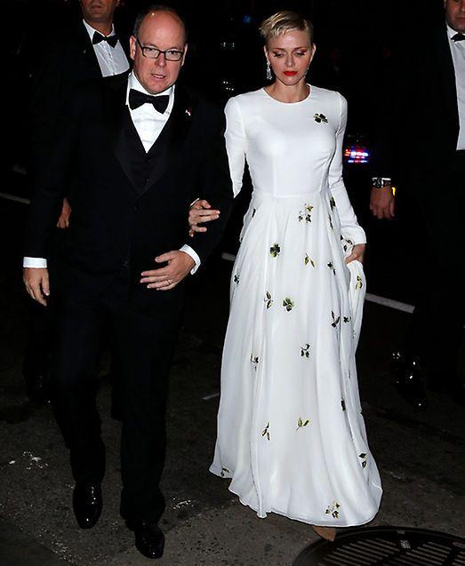 Mar Flores posa por primera vez con Elías Sacal en una gala presidida por Alberto y Charlene de Mónaco en Nueva York - Foto 1