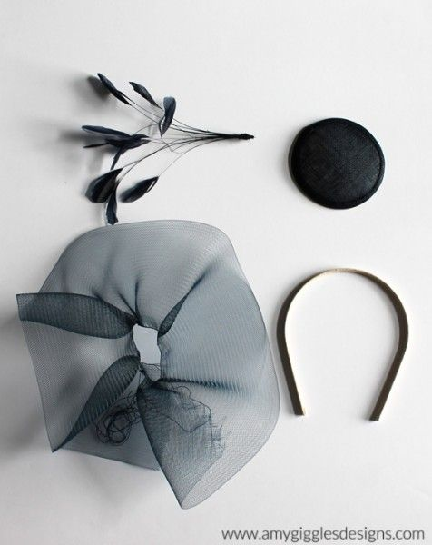 Supplies to Make Fascinators | began by gluing the base to the headband that I already had. My ...