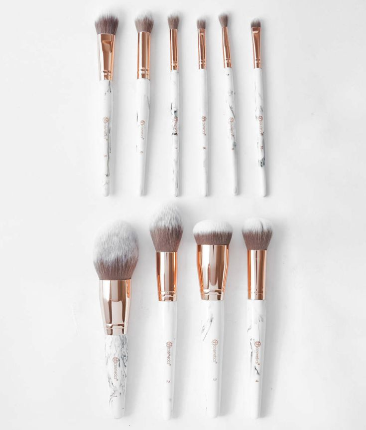 Marble Luxe 10 Piece Brush Set | How to clean makeup ...