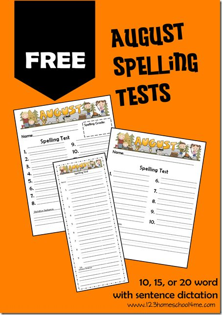 47 best Spelling images on Pinterest Spelling activities - spelling test template