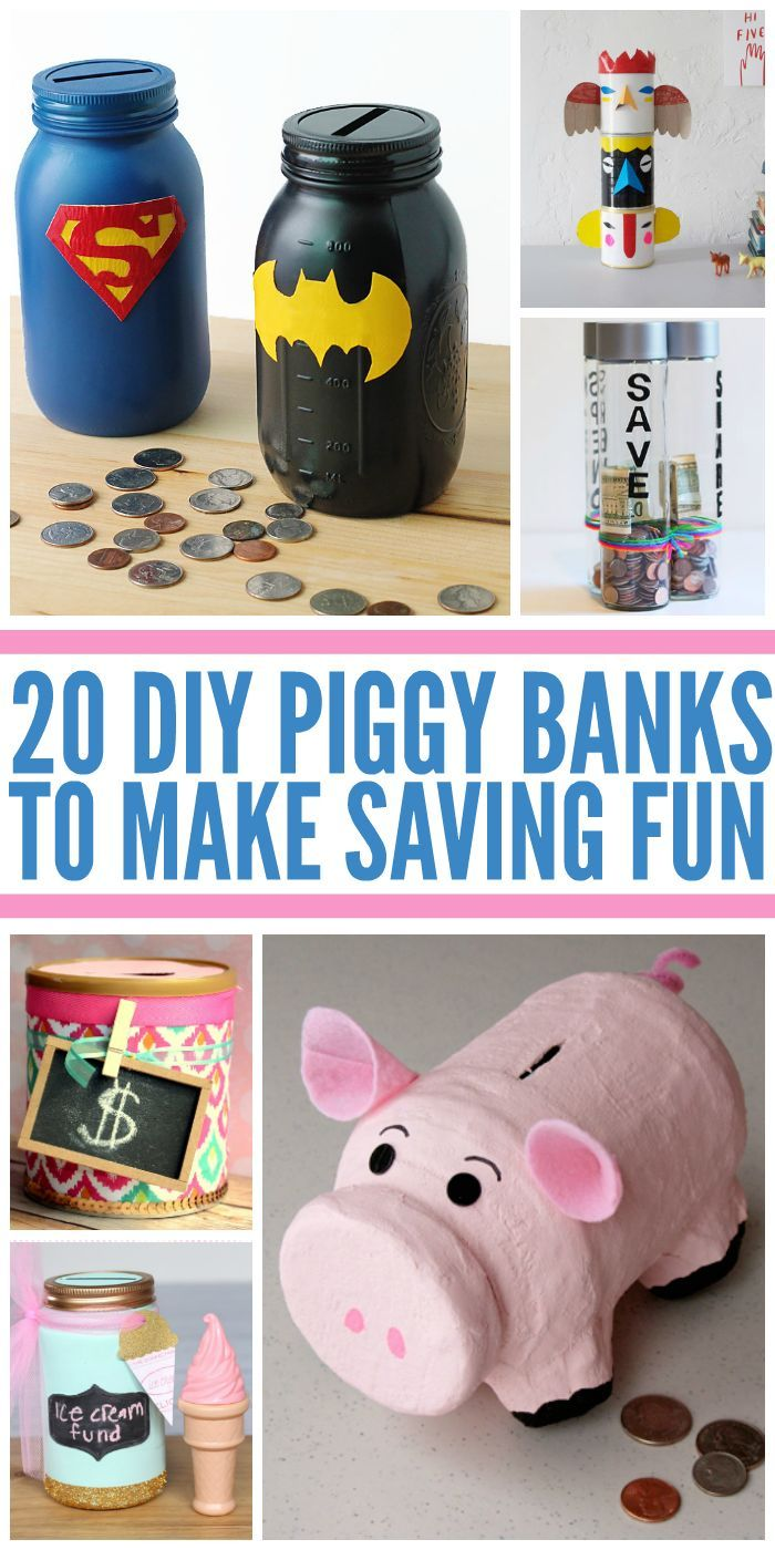 20 fun diy piggy banks
