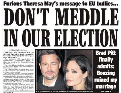 How the British press reacted to Theresa May's swipe at Brussels