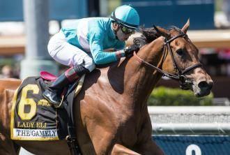 Lady Eli has to work hard to prevail in Gamely   Daily Racing Form