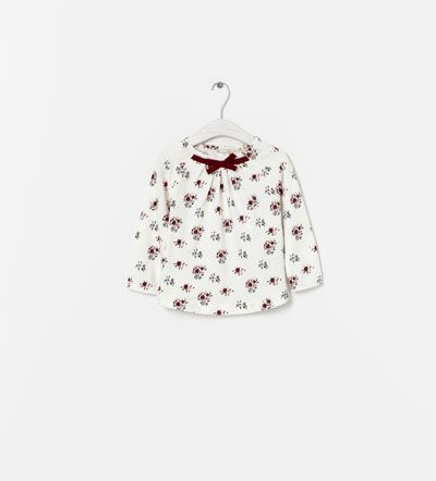 PRINTED T-SHIRT WITH BOW