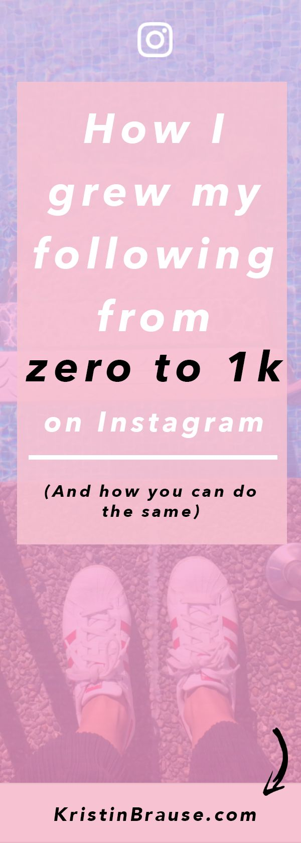 Want to know how to gain more Instagram followers? In this blog post I share my strategies I used to grow my following from zero to 1k.
