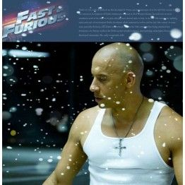 SDA Classic 316L Stainless Steel Dominic Toretto Cross  Pendant  Necklace For Men