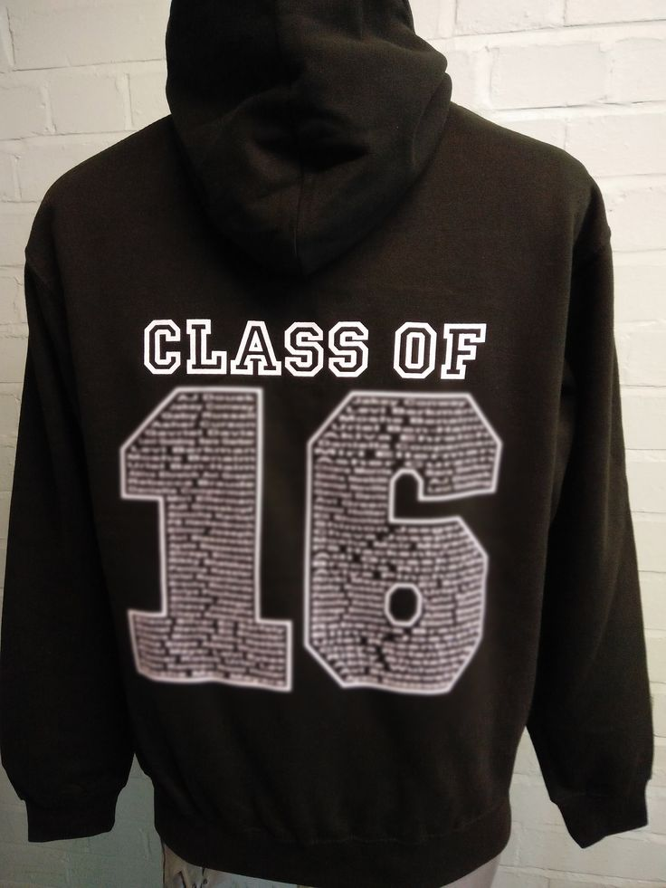 Looking great for Menorah Foundation School, these School Leavers Hoodies in Black. With custom Leavers print and logo on the front and custom 'names' Leavers print on the back in white.