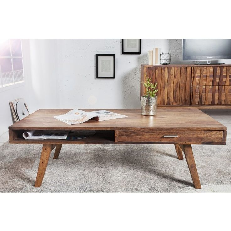 Moderne salontafel Retro 120 cm sheesham - 36561