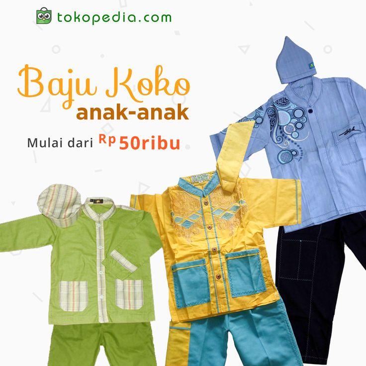 Tidak hanya orang dewasa, anak-anak pun bisa bergaya di hari Lebaran! Yuk jadikan si kecil makin modis di hari yang fitri dengan aneka Baju Koko Anak.  Temukan berbagai model Baju Koko Anak murah, mulai dari Rp 50.000,- (harga bevariasi) hanya di http://www.tokopedia.com/hot/baju-koko-anak