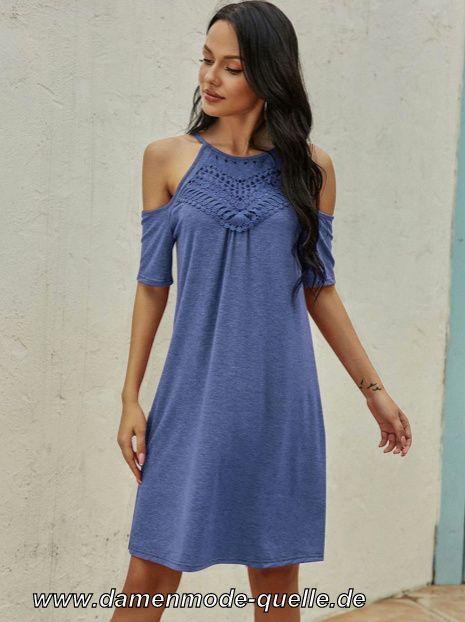 - kleider 2020 | kurzarmkleid sommerkleid in blau