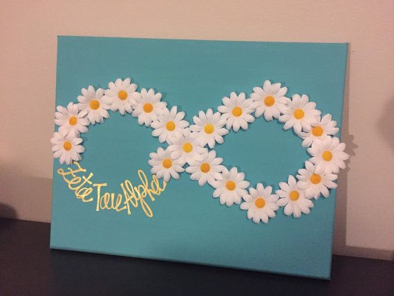 Zeta Tau Alpha 11x14 infinity symbol canvas, available in any color! Just ask! Great gift for big little, initiation, or to decorate any room