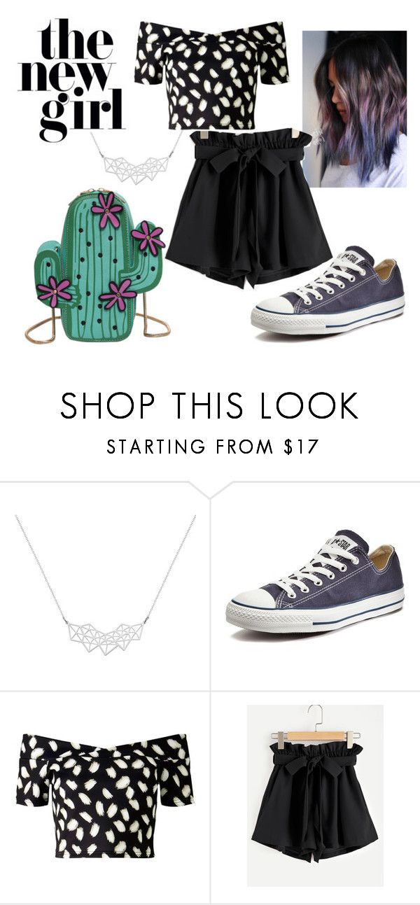 The new girl by patsilvarte-blog on Polyvore featuring Miss Selfridge, WithChic, Converse and A Weathered Penny  #purple #different new #ootd #look