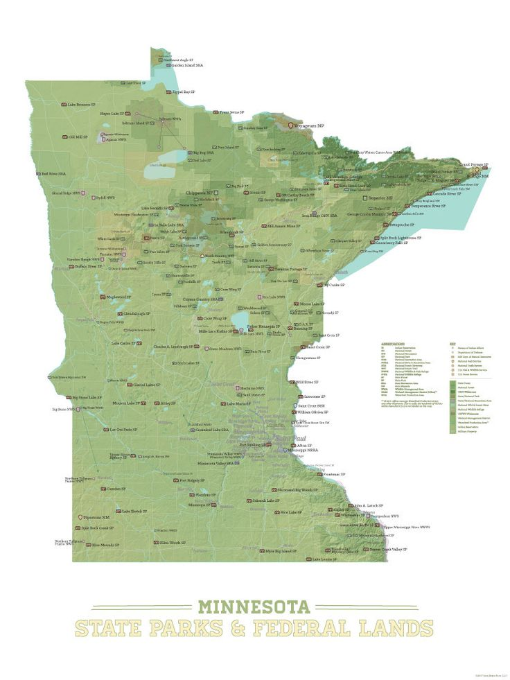 Minnesota State Parks u0026 Federal Lands Map