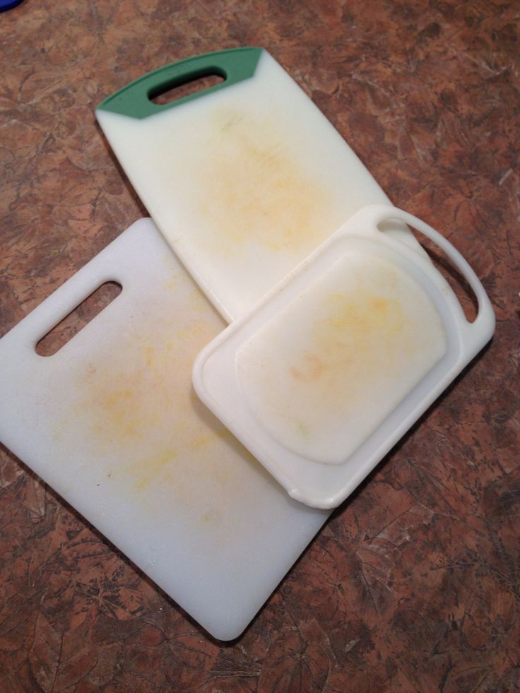 How to Make Ugly Stained Cutting Boards WHITE Again! #cleaning