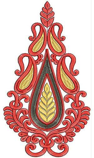 11.06 x 6.22 Inch Applique Embroidery Design