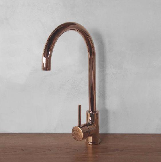 Elysian Kitchen Mixer // Deep Rose Gold $259.90 ✨ . . . . #mixer #kitchenfaucet #faucet #rosegold #luxe #bathroominspiration #interiorinspiration #kitchenideas #homeideas #interiors #design #elegantdesign #interiorideas #interiorinspo #luxurykitchen #style #clean #simple #sophisticated #bathroomreno #renovations
