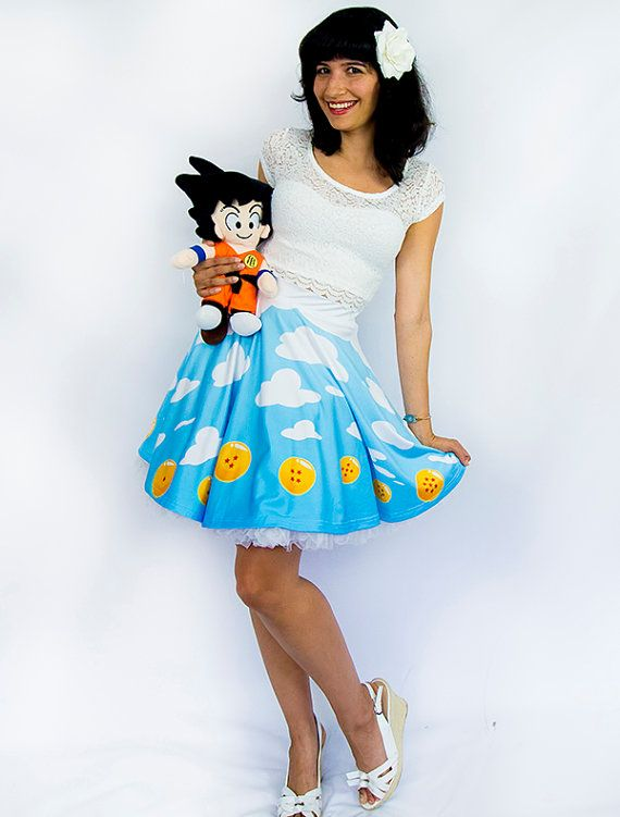 DRAGONBALL Z Dragonball Sky Skirt - Made to Order