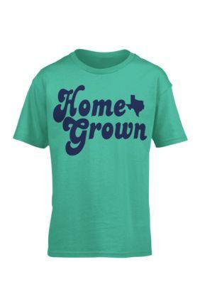 Royce Girls' 'Home Grown' Texas Tee Girls 7-16 - Seafoam - Xl