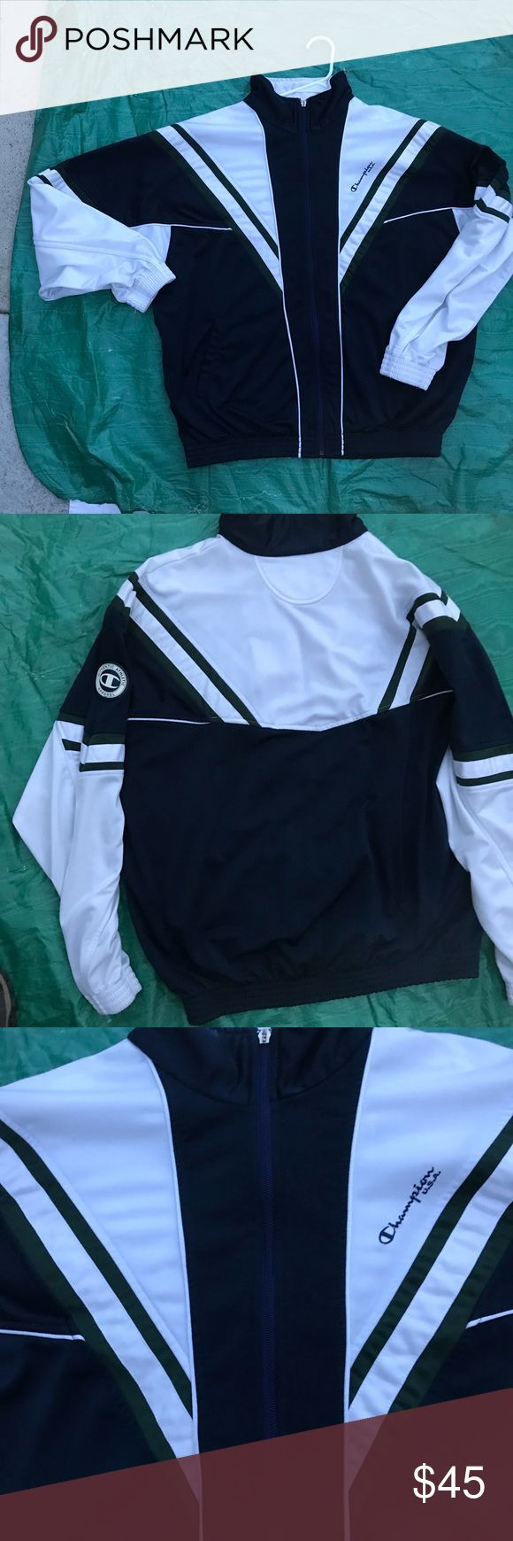 Vintage champion brand jacket xl 27' top of collar to bottom 26' pit to pit Champion Jackets & Coats
