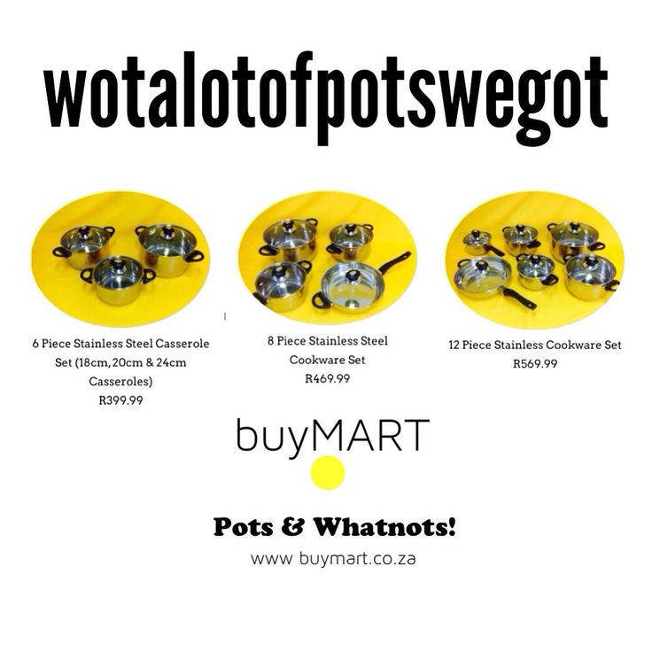 @buyMartZA: Sweet deals on pots with free delivery to you at www.buymart.co.za/products  #SouthAfrica #Durban #Jozi #CapeTown