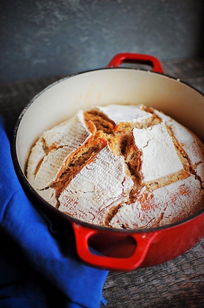 Asia's White Kitchen: Chleb żytni na zakwasie Składniki na jeden duży bochenek: 300 g mąki żytniej typ 720 300 g mąki pszennej typ 500 400 ml wody 1 płaska łyżka soli 180 ml aktywnego (bąbelkującego) zakwasu żytniego
