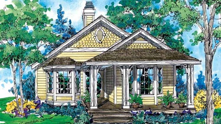 Eplans cottage house plan two bedroom cottage 911 for Eplans cottage house plan