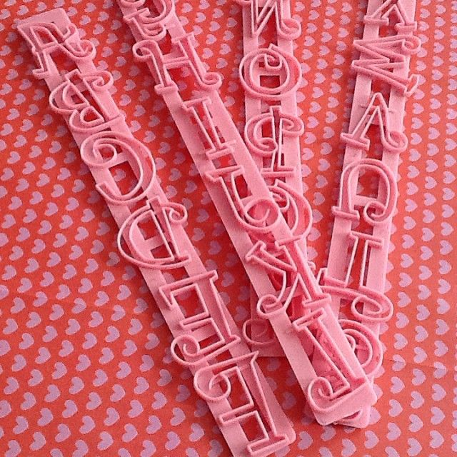 accessori lettere e numeri #guardini #cakedesign