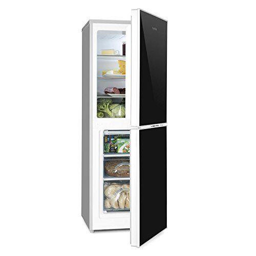 Klarstein Luminance Frost – Combiné réfrigérateur congélateur frigo 98L compartiment congélation autonome 52L (compartiments porte, bac à…