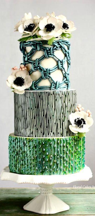 Macrame Vintage Wedding Cake