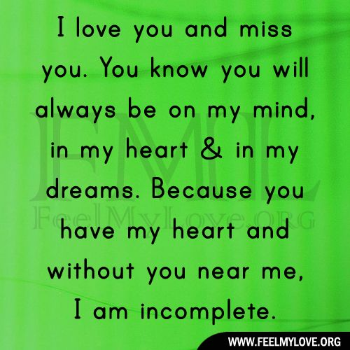 I Love You Quotes And Sayings: I Love You And Miss You