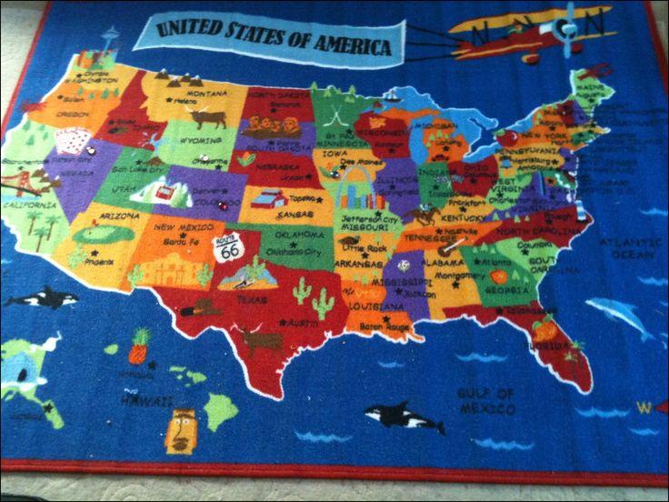 United States Map Rug