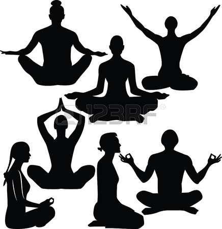 stock photo  yoga illustration illustration silhouette