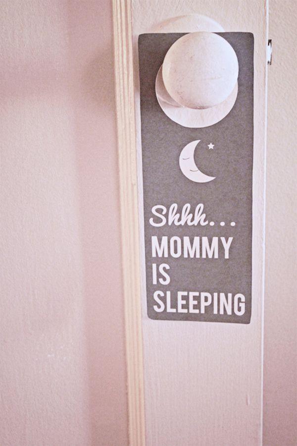 Cute printable for door hangers.