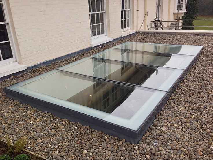 Ballasted Roof with Rooflight