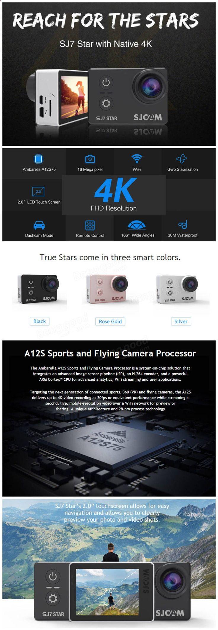 SJCAM SJ7 STAR 4K WIFI Action Camera IMX117 CMOS 2.0 Inch LCD Sport DV Ambarella A12S75