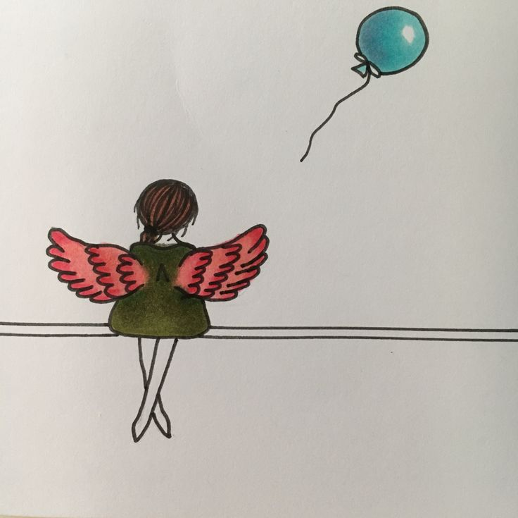 """""""What if I fall?"""" Oh, but my darling.. What if you fly? #alcoholmarkere #drawing #girl #balloon"""