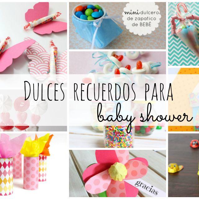 ideas para los dulces de tu baby shower