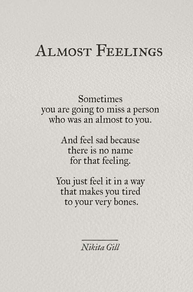 Almost Feelings by Nikita Gill