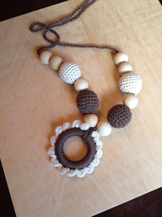 Teething,breastfeeding necklace,nursing necklace, crochet necklace