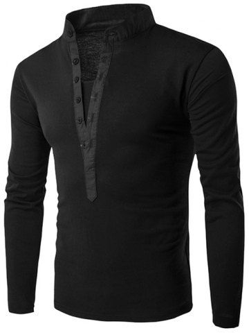 GET $50 NOW | Join RoseGal: Get YOUR $50 NOW!http://www.rosegal.com/men-s-long-sleeves/spliced-grandad-collar-long-sleeve-751852.html?seid=8569013rg751852
