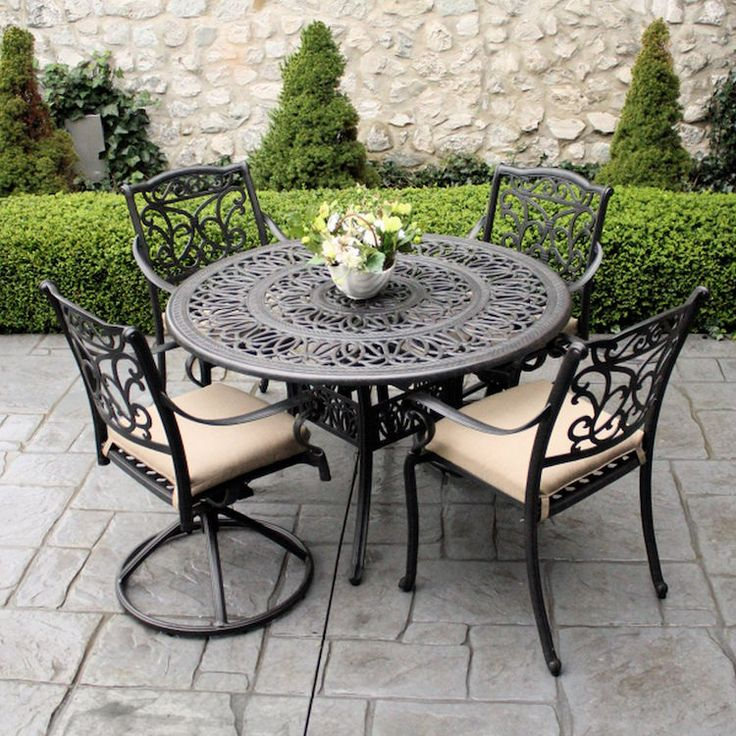 25 best ideas about table ronde jardin on pinterest - Table jardin fer forge occasion ...