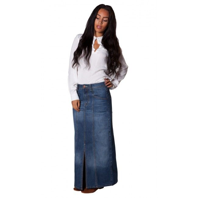 USKEES Carole Denim Skirt - Mid Denim