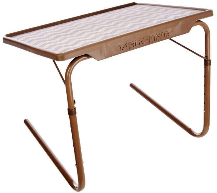 Table Mate XL Multipurpose Adjustable Folding TV Tray Table (Latte)  | eBay