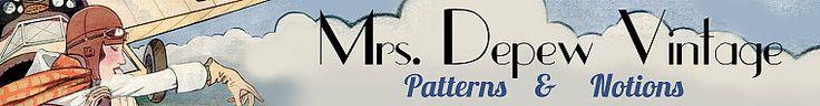 Mrs Depew Vintage on Etsy. Naaipatronen en tutorials