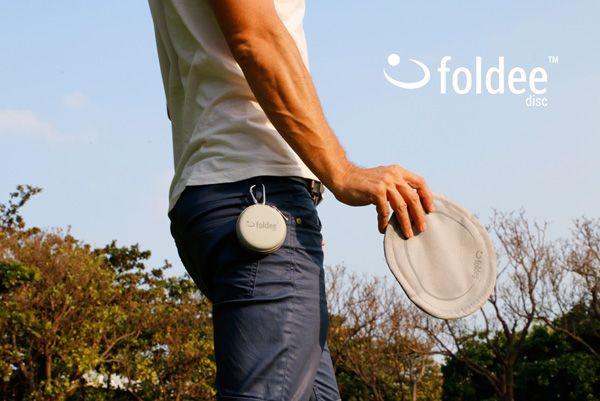 Grey Folding Frisbee by Foldee |
