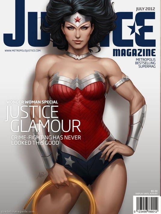 """Que Delícia, Né Gente?!: Personagens da DC Comics estampam capas da revista fictícia """"Justice Magazine"""""""