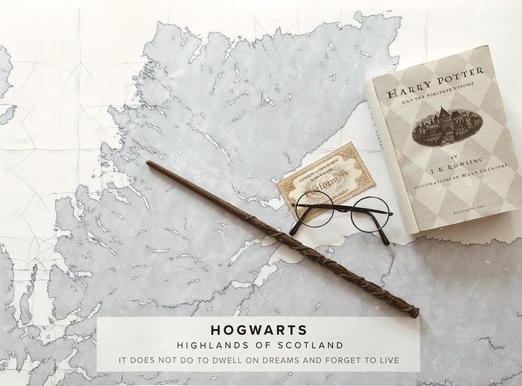 "Map poster of Hogwards in ""blue"" theme. Print size 50 x 70 cm available at Mapiful.com"