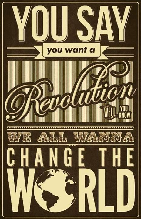 "REVOLUTION! Be BELLA & Blissed #BellaGLAMSquad https://bellaglamsquad.myrandf.com/Shop (The Beatles lyric from the song ""Revolution."")"