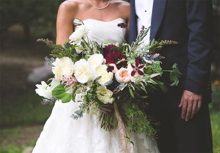Bridal Bouquet Base : Broad base wedding bouquets to covet we burgundy