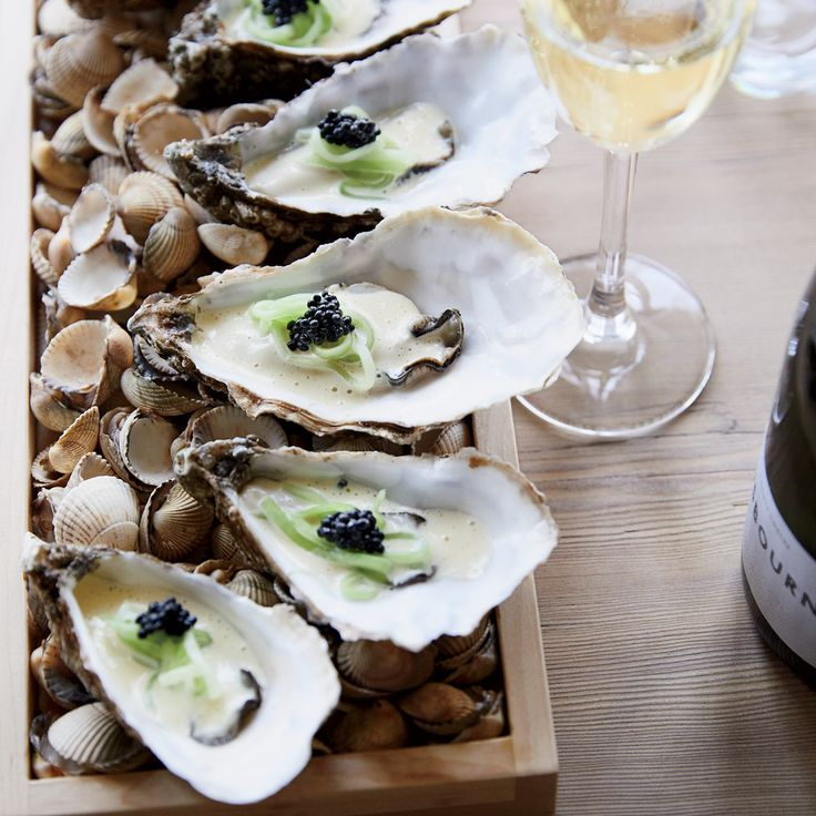 These best-ever poached oysters get topped with a buttery sauce, pickled cucumbers and briny caviar. Get the recipe at Food & Wine.